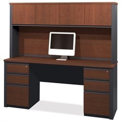 Bestar Prestige + 4-Piece Desk with Assembled Pedestals