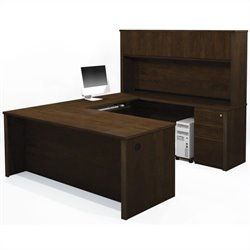 Bestar Prestige + 7-Piece U-Shape Desk
