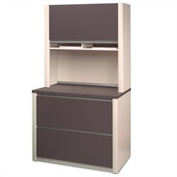 Bestar Connexion 2 Drawer Lateral File Cabinet and Hutch