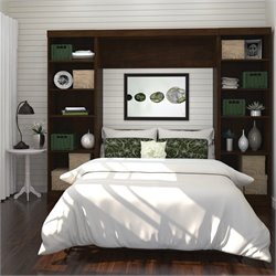 Bestar Pur Full Wall Bed Storage Unit in White