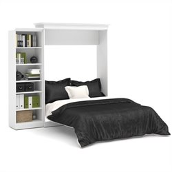 Bestar Versatile 92'' Queen Wall Bed with Storage Unit