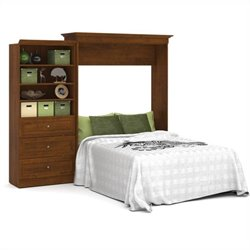 Bestar Versatile 101'' Queen Wall Bed with 3-Drawer Storage Unit