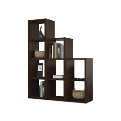 Bestar York Cubby 9 Sections Bookcase in Chocolate