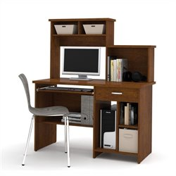 Bestar Active Computer Workstation in Tuscany Brown
