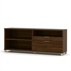Bestar Pro-Linea Credenza in Oak Barrel
