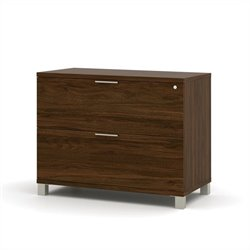 Bestar Pro-Linea Assembled Lateral File in Oak Barrel