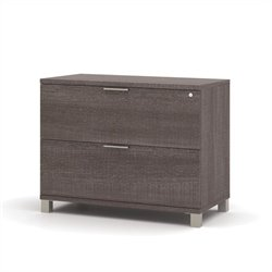 Bestar Pro-Linea Assembled Lateral File in Bark Grey