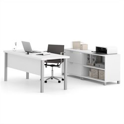 Bestar Pro-Linea Executive Set in White