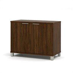 Bestar Pro-Linea 2-Door Storage Unit in Oak Barrel