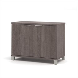 Bestar Pro-Linea 2-Door Storage Unit in Bark Grey