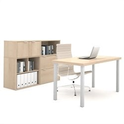 Bestar i3 Executive Set with lateral File in Northern Maple