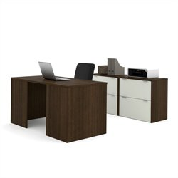 Bestar i3 Executive Set in Tuxedo and Sandstone