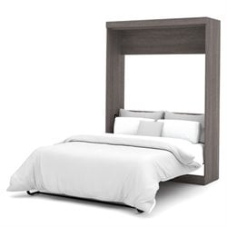Bestar Nebula Wall Bed in Bark Grey