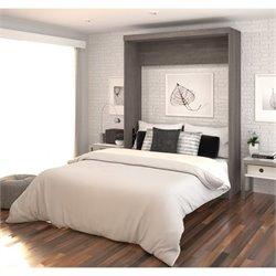 Bestar Nebula Bed in Bark Grey and White