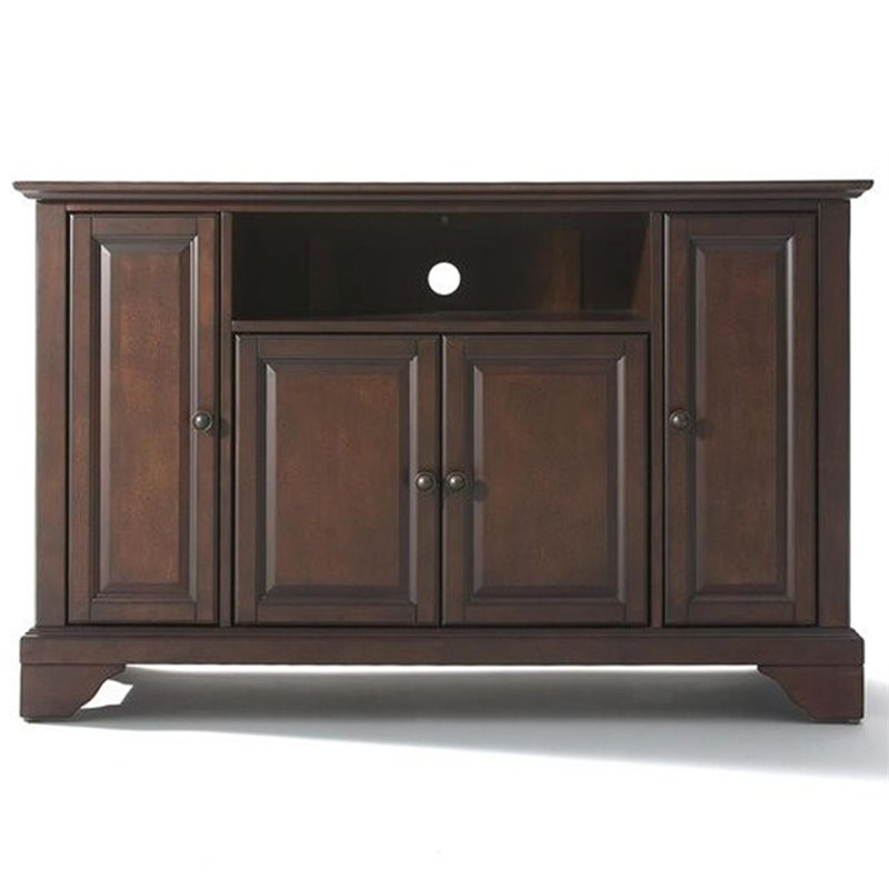 Crosley Furniture Lafayette 48 Tv Stand In Vintage Mahogany Finish Kf10002bma
