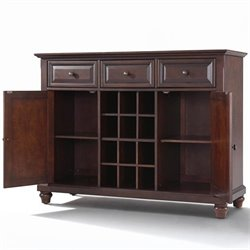 Crosley Furniture Cambridge Buffet Server / Sideboard Cabinet in Vintage Mahogany