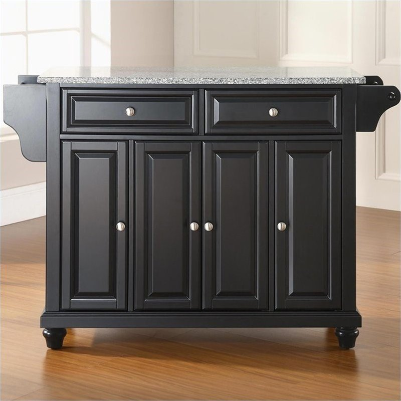 Crosley Furniture Roots Rack Natural Industrial Kitchen: Crosley Furniture Cambridge Solid Granite Top Kitchen