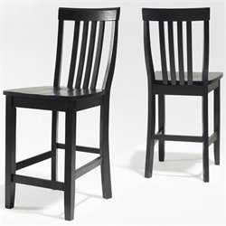 School House Bar Stool in Black