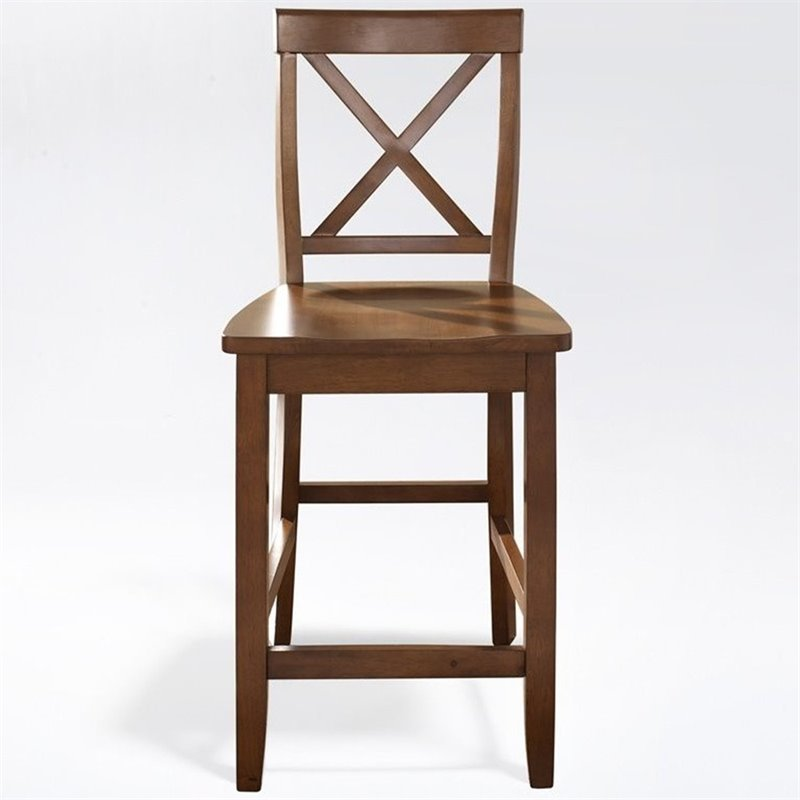 Crosley Furniture 24 Quot X Back Counter Stool In Cherry Set