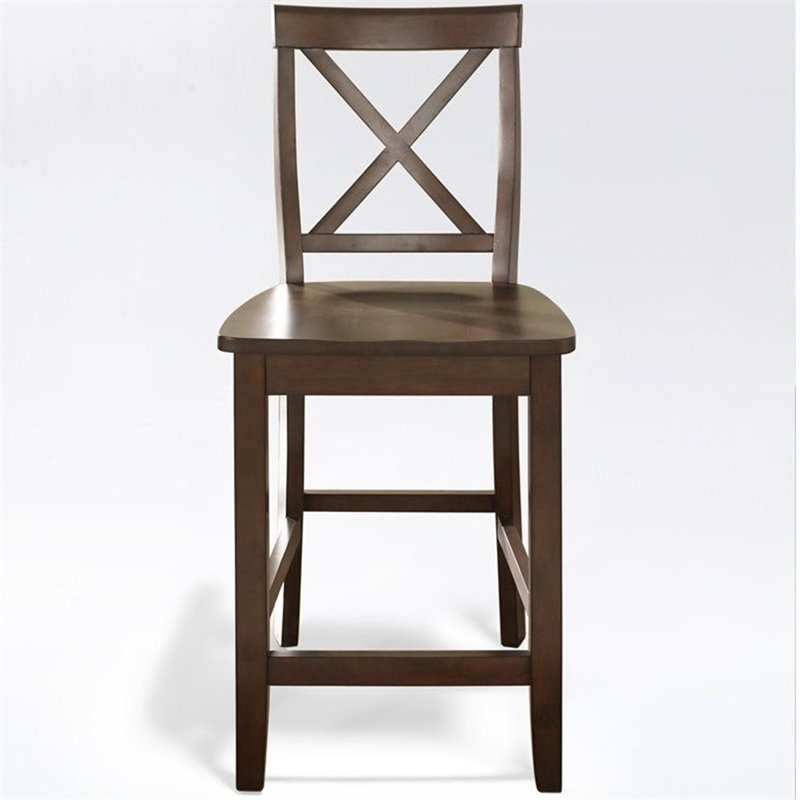Crosley Furniture 24 Quot X Back Counter Stool In Mahogany