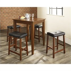 Crosley Furniture 5 Piece Pub Dining Set in Classic Cherry