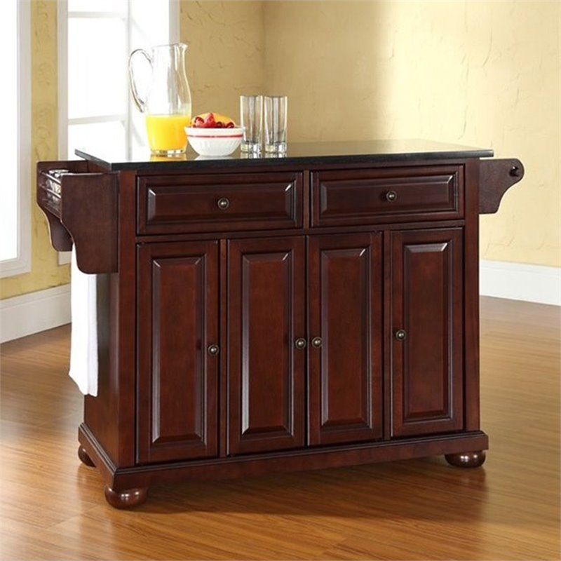 Crosley Furniture Alexandria Black Granite Top Mahogany