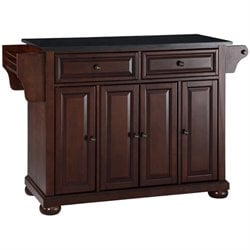 Crosley Furniture Alexandria Black Granite Top Mahogany Kitchen Island
