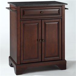 Crosley Furniture LaFayette Black Granite Top Mahogany Kitchen Island