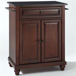 Crosley Furniture Cambridge Black Granite Top Mahogany Kitchen Island