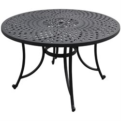 Crosley Furniture Sedona Aluminum Dining Table in Charcoal Black
