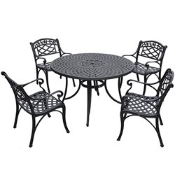 Sedona 5 Piece Dining Set - Low Back Arm Chairs