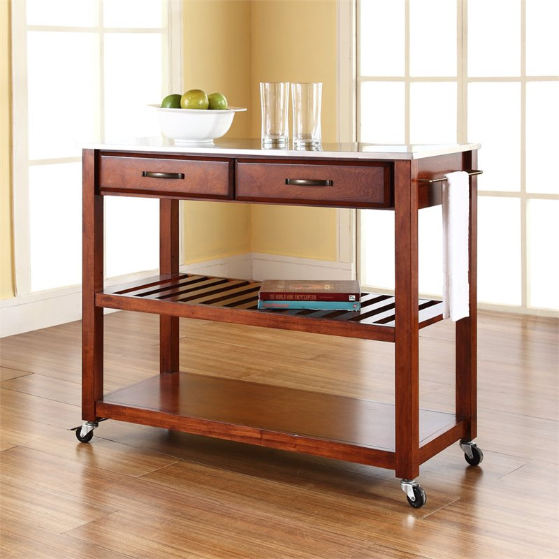 Roots Rack Natural Industrial Kitchen Cart Crosley: Crosley Kitchen Cart Island Stainless Steel In Classic