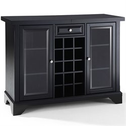 Crosley LaFayette Sliding Top Home Bar Cabinet in Black