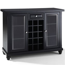 Crosley Cambridge Sliding Top Home Bar Cabinet in Black