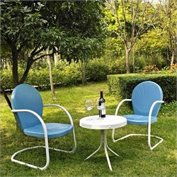Crosley Griffith 3 Metal Outdoor Seating Set