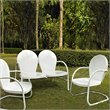 Crosley Griffith 3 Metal Outdoor Seating Set in White