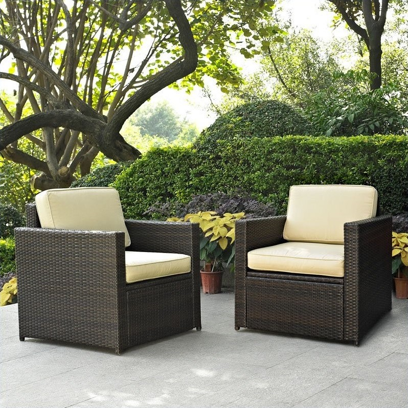 Crosley Palm Harbor 2 Piece Outdoor Wicker Seating Set Ko70005br