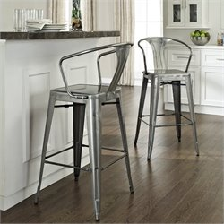 Amelia Metal Cafe Barstool with Back