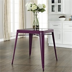 Crosley Furniture Amelia Metal Cafe Dining Table in Purple