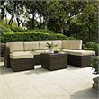 Crosley Furniture Palm Harbor Outdoor Wicker Coffee Sectional Table
