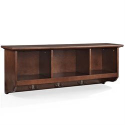 Crosley Brennan Entryway Storage Shelf in Mahagony