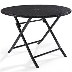 Crosley Palm Harbor Outdoor Wicker Folding Table