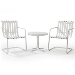 Gracie 3 Piece Metal Outdoor Conversation Seating Set