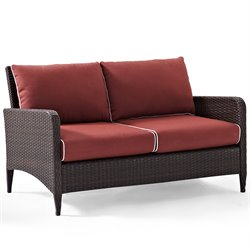 Crosley Kiawah Outdoor Wicker Loveseat