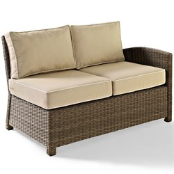 Crosley Furniture Bradenton Outdoor Wicker Sectional Right Loveseat