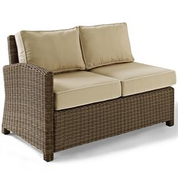 Crosley Furniture Bradenton Outdoor Wicker Sectional Left Loveseat