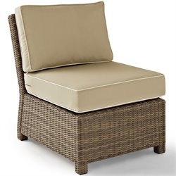 Crosley Furniture Bradenton Outdoor Wicker Sectional Center Chair