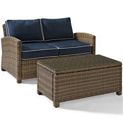 Crosley Furniture Bradenton 2 Piece Outdoor Wicker Seating Set II