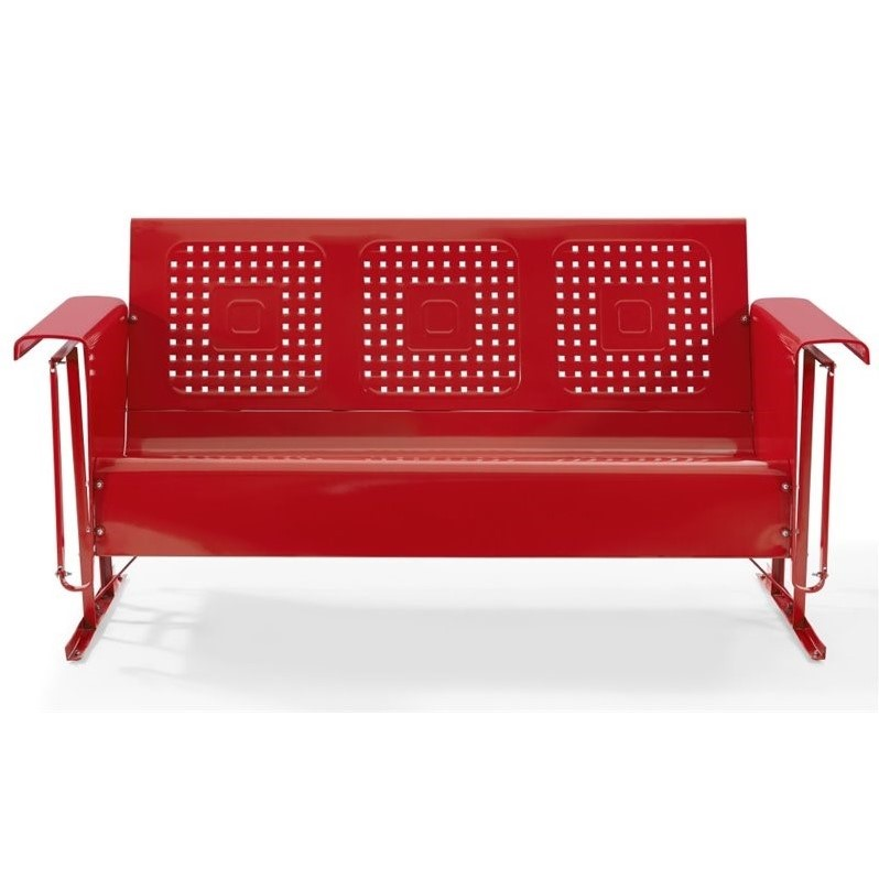 Crosley Bates Sofa Glider In Red Co1016 Re