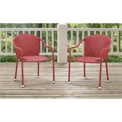 Palm Harbor 3 Piece Outdoor Wicker Cafe Seating Set